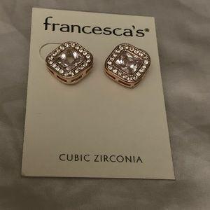 Studded CZ earrings